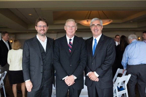 From left to right: Moderator & SRQ Publisher Wes Roberts, Dave Sanford, Rick Piccolo