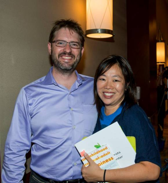 SRQ Magazine Executive Publisher & Owner, Wes Roberts and CEO & President, Lisl Liang at Forty Carrots Speaker Event.  Photo Credit: Cliff Roles