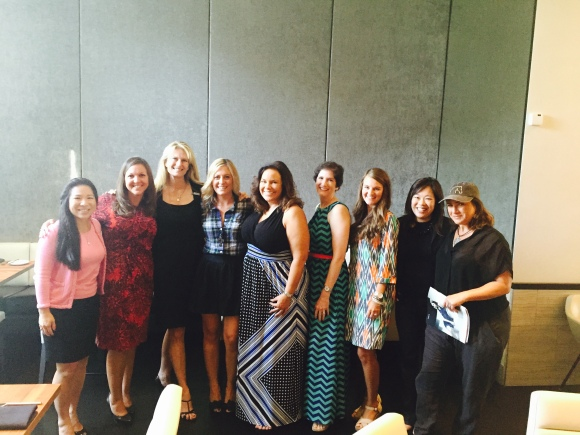 Members of Women in Business Leadership Circle at Sophie's in Saks 5th Avenue. From left to right: Lee-En Chung, Kelly Gilliand, Ashley Grant, Ashley Ryan, Joy Randels, Cynthia Holliday, Mary Darby Guidroz, Lisl Liang, Jaymie Klauber