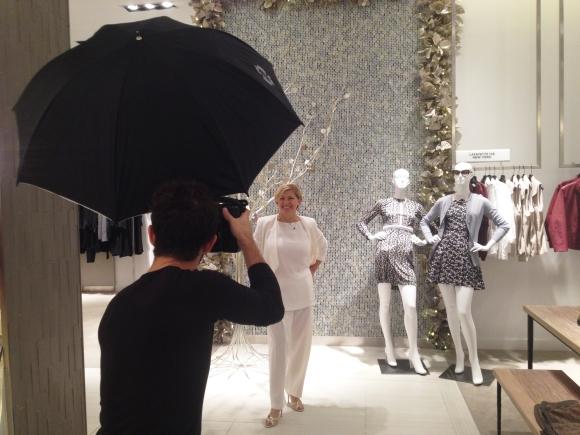 Senior Photographer Evan Sigmund photographs Angela Massaro-Fain wearing Lafayette 148.
