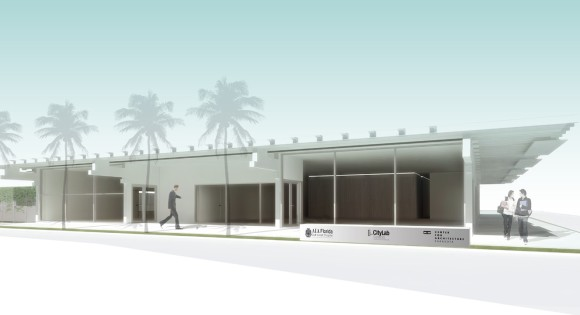 Architectural rendering of the Center for Architecture Sarasota, opening next year.