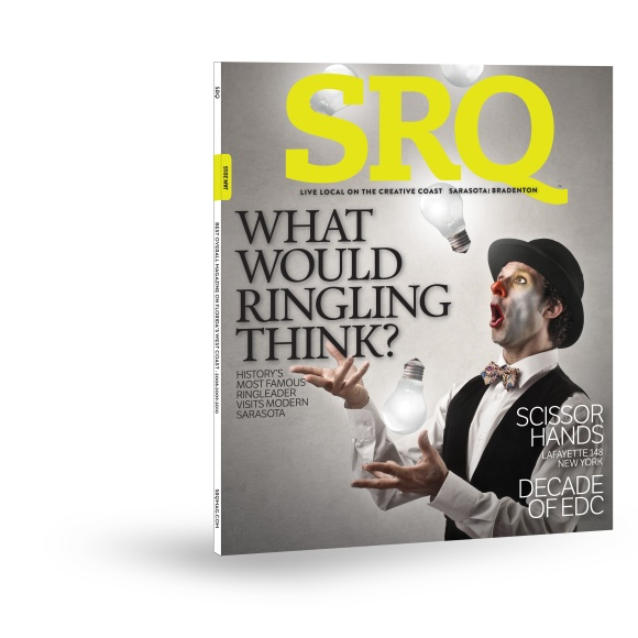 The January 2015 Edition of SRQ Magazine hits newsstands on New Years Day.
