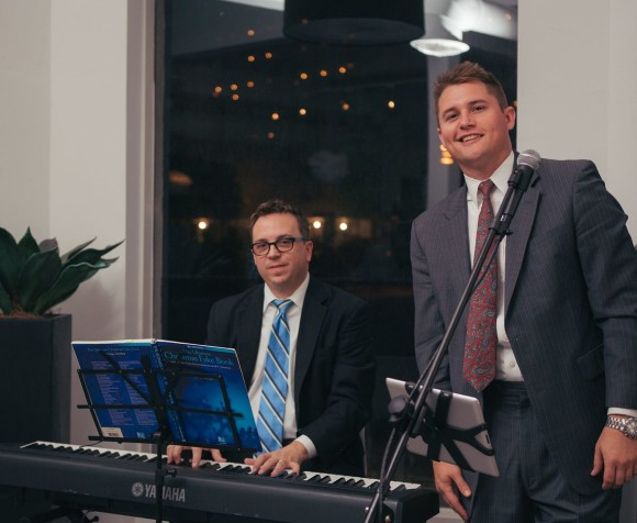 Stephen Fancher and Bart Lowther of MLC & Associates entertained guests. Photo Credit: Senior Photographer Evan Sigmund.