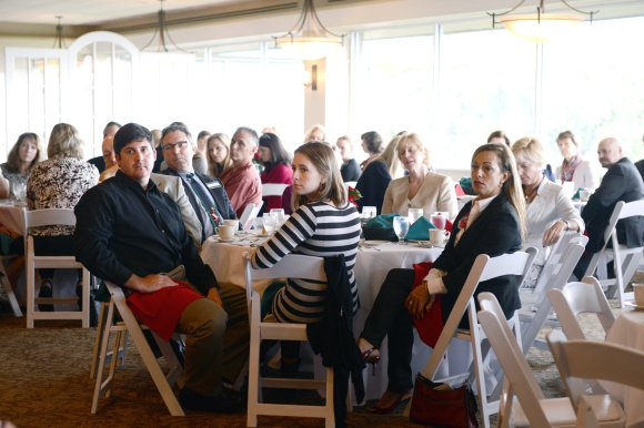 The December SB2 audience listens to the panel discussion on philanthropy.