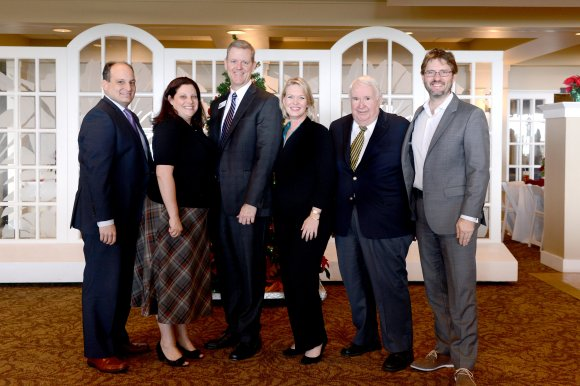 December SB2 Panelists. From left to right: Jeff Troiano, Julie Lyman, Jay Clarkson, Veronica Brady, Bob Blalock and SRQ Executive Publisher Wes Roberts.