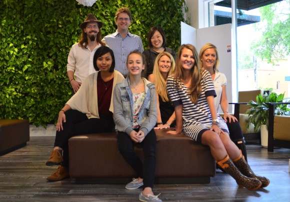 Newgate intern, Nina Edelsbacher with the SRQ Team. Photo Credit: Lisl Liang