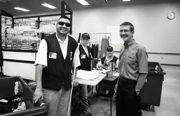 Bob Rasinsky (far right) with Goodwill Employees.