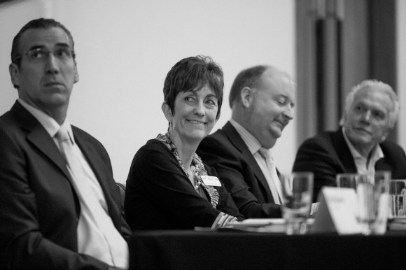 Panelists engage in discussion on the Sarasota Bayfront. Photo Credit: Evan Sigmund
