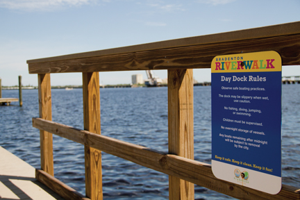 Bradenton Riverwalk, a topic of discussion at March SB2: Vibrant Bayfronts.