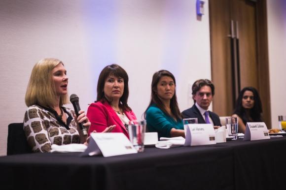 Dr. Lori Abrams answers a question at SB2. Photo Credit: Shane Donglasan.