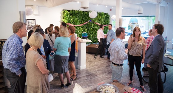 Clients and friends of SRQ Magazine gather in the studios to celebrate Pigs on Pineapple. Photo credit: Evan Sigmund