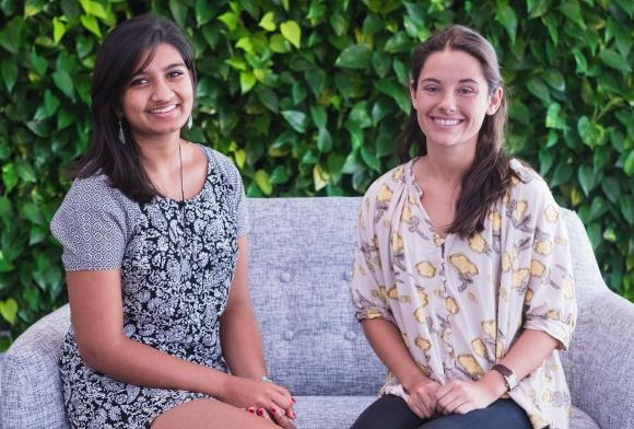Shyamali Mahure (left) and Sydney Robinson. Photo credit: Shane Donglasan
