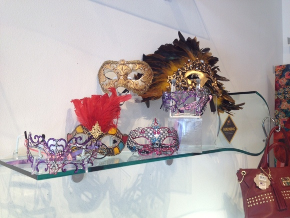 i tesori also carries traditional Harlequin-style masks in bright jewel tones. Photo credit: Mary Darby Guidroz