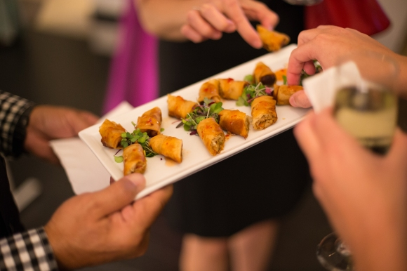 Guests of the SRQ Bal Masque VIP Party enjoyed savory bites from Sophie's at Saks Fifth Avenue. Photo credit: Wyatt Kostygan
