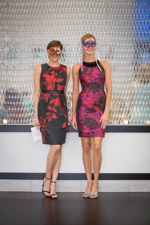 Models at Sophie's at Saks Fifth Avenue wore Bal Masque inspired dresses with masks from i tesori. Photo Credit: Wyatt Kostygan