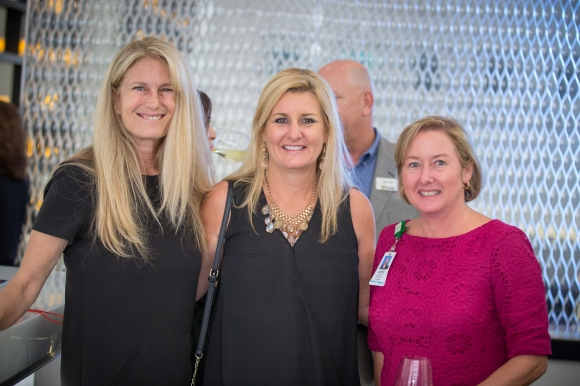Ashley Grant (Left) of SRQ Media poses with guests to the SRQ Women in Business Kickoff Celebration. Photo credit: Wyatt Kostygan