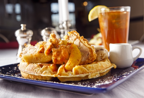 Don't miss the Chicken & Waffle sliders at Bal Masqué.