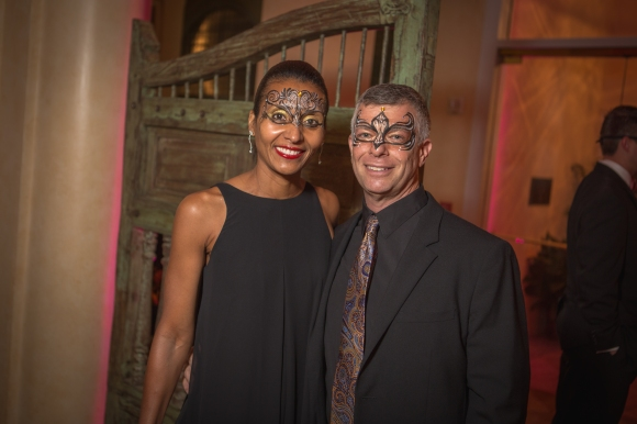 Jesse White (right), owner of Sarasota Architectural Salvage attends Bal Masqué on October 3rd. Photo credit: Wyatt Kostygan