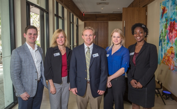 Representatives from SB2 Series Sponsor CS&L CPAs at The Art of Corporate Philanthropy. Photo credit: Wyatt Kostygan