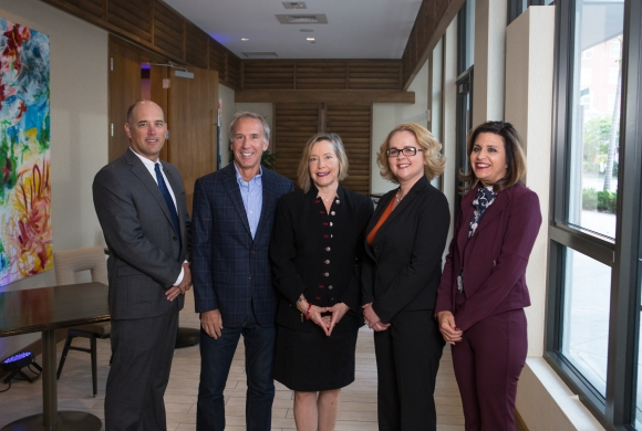 From L to R: Panelists Kelly Caldwell, Rod Hershberger, keynote speaker Connie Smith and panelists Aubrey Lynch and Lisa Krouse. Photo credit: Wyatt Kostygan