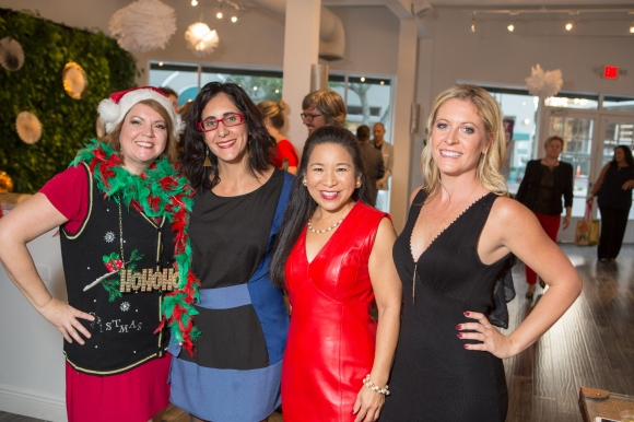 From L to R: Veronica Brandon Miller of Goodwill Manasota, Leymis Bolanos-Wilmott of Sarasota Contemporary Dance, Lee-En Chung of Ivy Ventures and Ashley Ryan, SRQ Business Development Director. Photo credit: Wyatt Kostygan