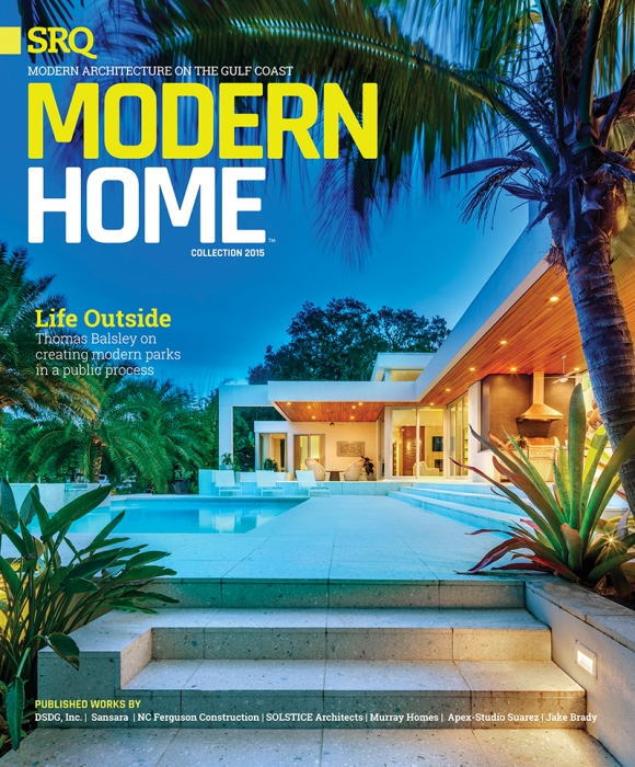 The 2015 cover of Modern Home Magazine