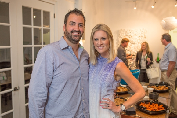 Nick and Sara Ferguson of NC Ferguson Construction attended the SRQ Home of the Year party. Photo credit: Wyatt Kostygan