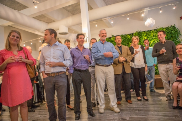Guests of the 12th annual Home of the Year competition await the announcement of winners. Photo credit: Wyatt Kostygan
